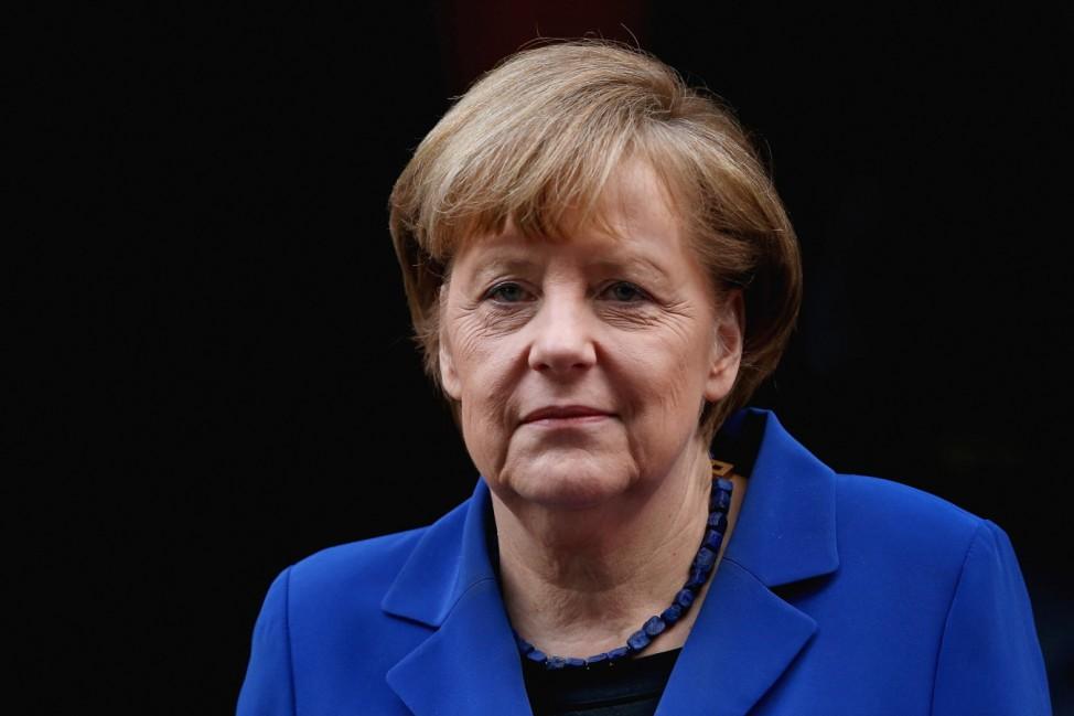 German Chancellor Angela Merkel Visits The UK
