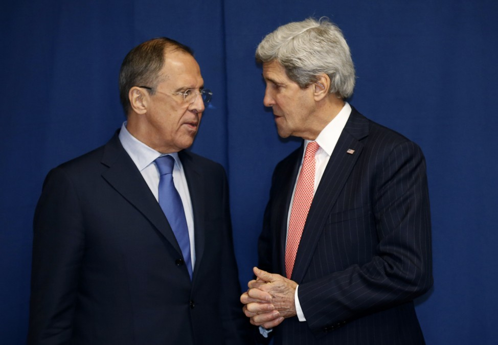 Russia's Foreign Minister Lavrov and U.S.Secretary of State Kerry meet in Rome