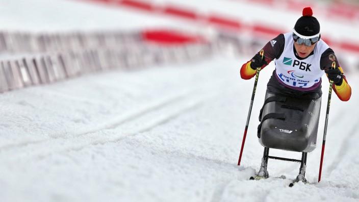 Die 42-jährige Andrea Eskau gwann das erste Gold für Deutschland bei den Paralympcs in Sotschi.