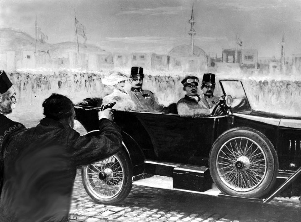 Attentat auf Erzherzog Franz Ferdinand und Sophie von Hohenberg, 1914