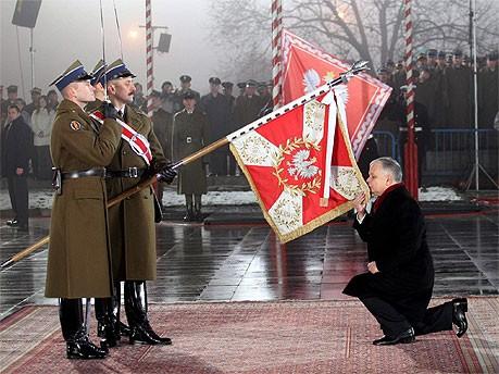 Lech Kaczynski bei seiner Vereidigung als Präsident, AFP