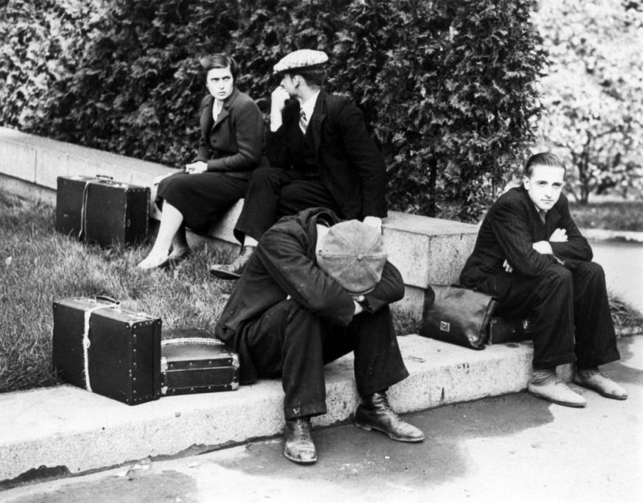 Juden auf der Flucht aus der Tschechoslowakei, 1939