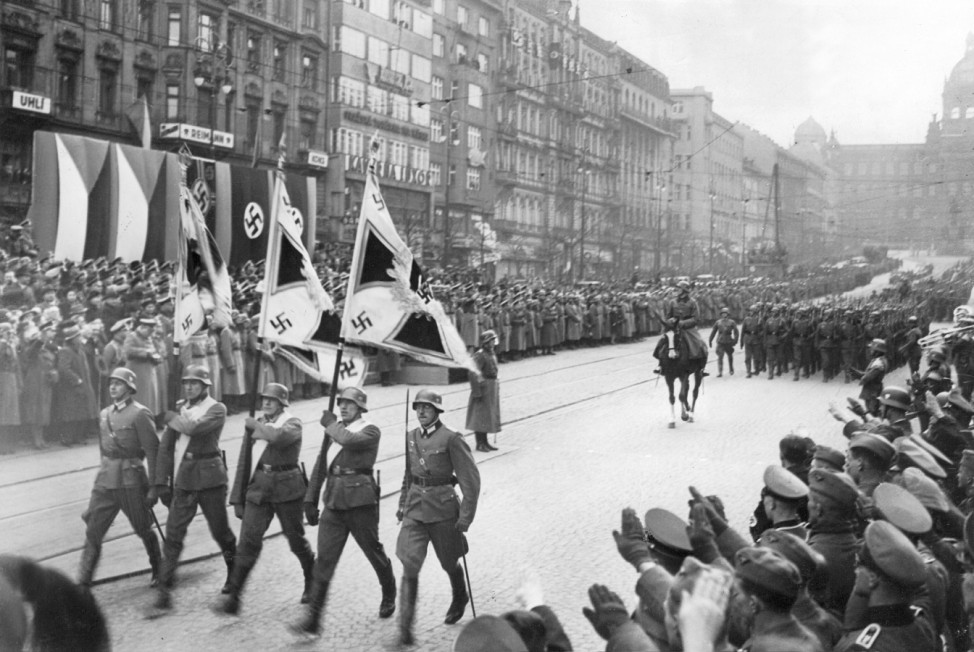 Parade deutscher Truppen inn Prag, 1939