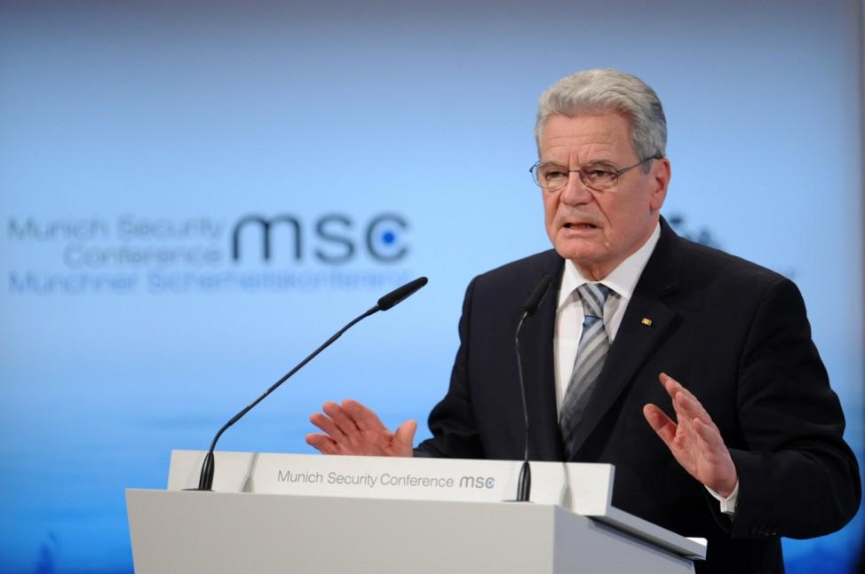 Gauck bei Münchner Sicherheitskonferenz