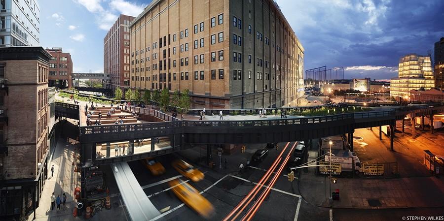 """""""Day to Night"""" Projekt des Fotografen Stephen Wilkes - High Line"""