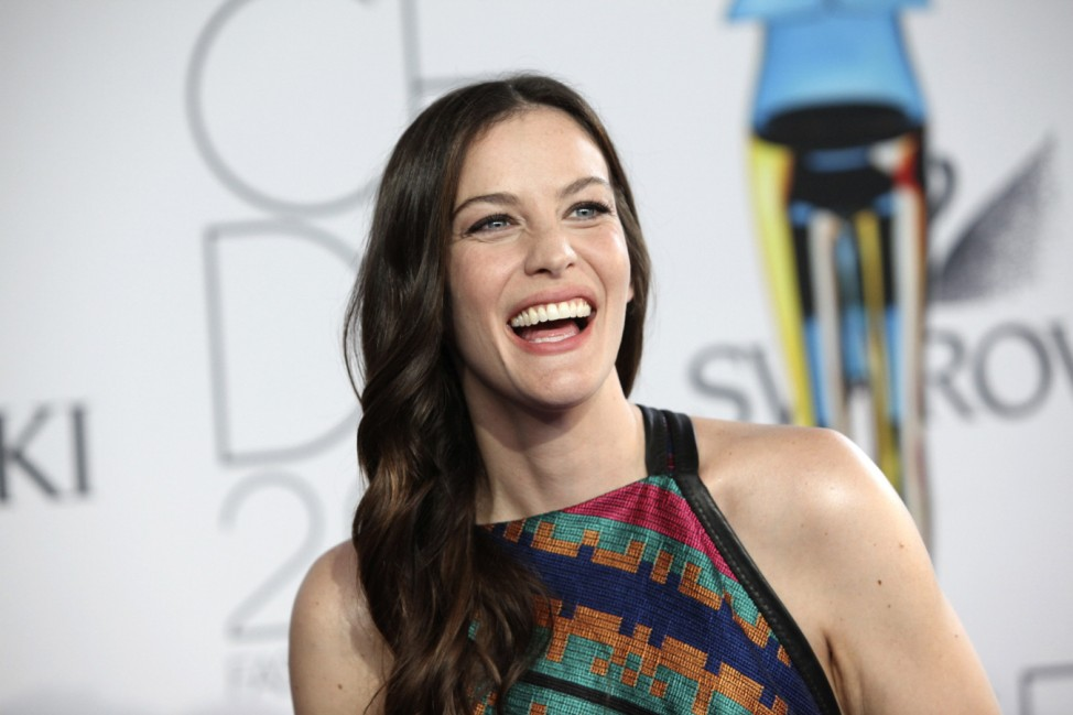 Liv Tyler arrives at the CFDA Fashion awards at the Lincoln Center's Alice Tully Hall in New York City
