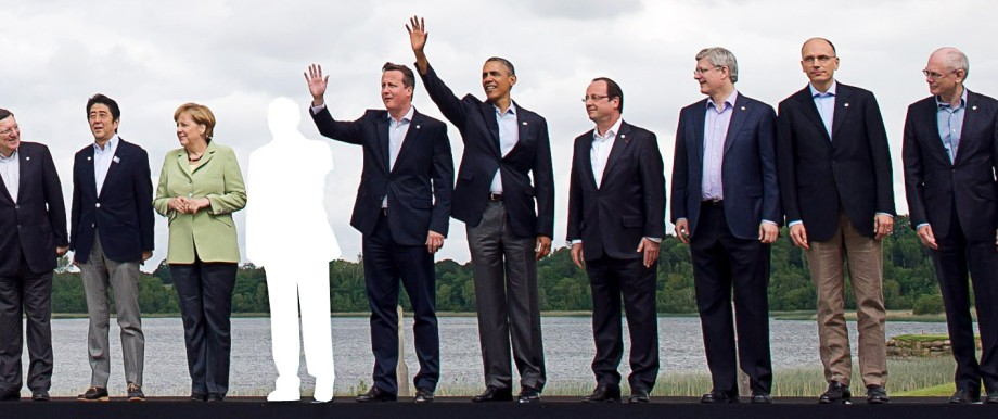 Familienfoto G8-Gipfel