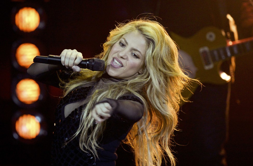 Colombian singer Shakira performs during the 2014 Echo Music Awards in Berlin