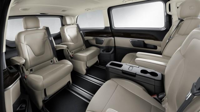 Der Innenraum der Mercedes V-Klasse.