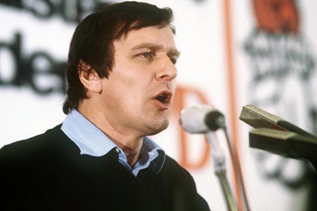 Gerhard Schröder als Juso-Vorsitzender