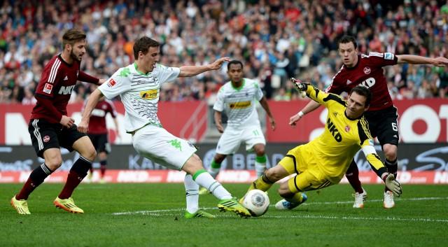 1. FC Nuernberg v Borussia Moenchengladbach - Bundesliga