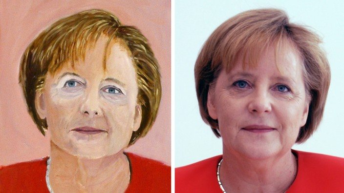 The Art of Leadership exhibition in Dallas; Angela Merkel