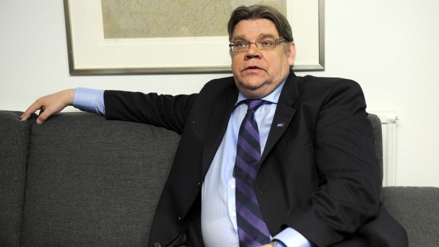 Leader of the populist True Finns party Timo Soini