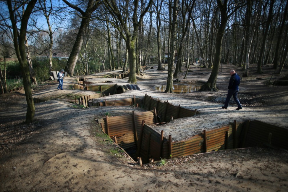 Erster Weltkrieg Ypern Sanctuary Wood Museum Schützengraben