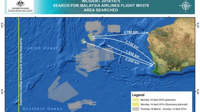 The search for missing flight MH370