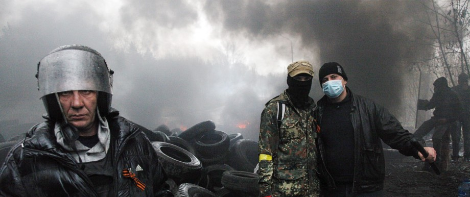 Krise in der Ukraine: Ukraine im Chaos: Pro-russische Demonstranten in Slawjansk