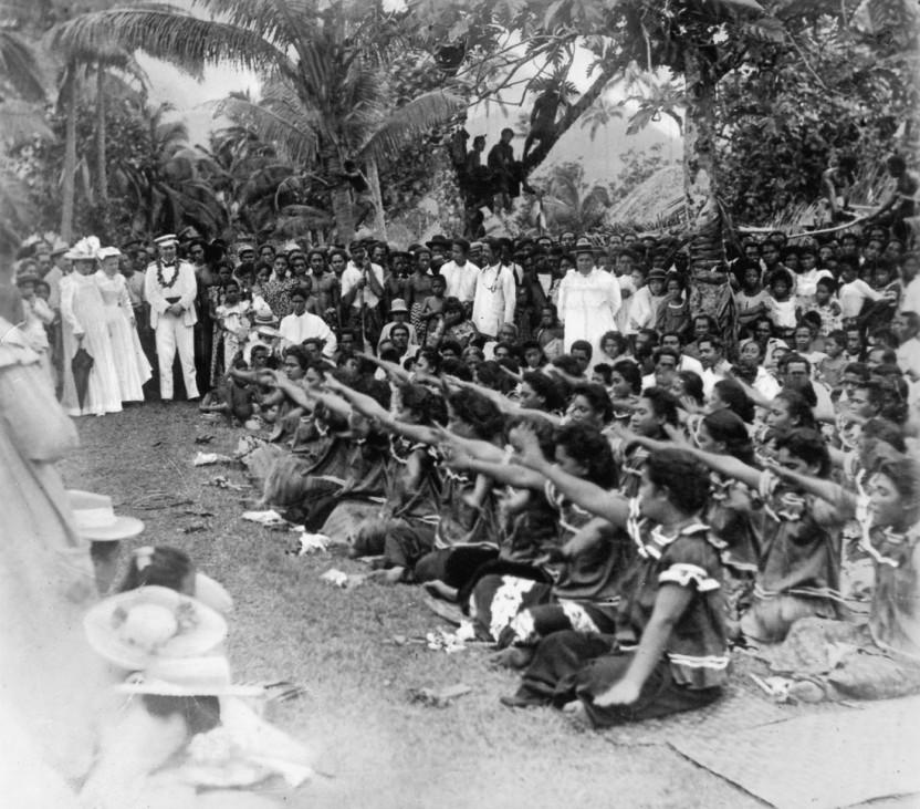Feier von Kaisers Geburtstag in der Kolonie Samoa, vor 1914