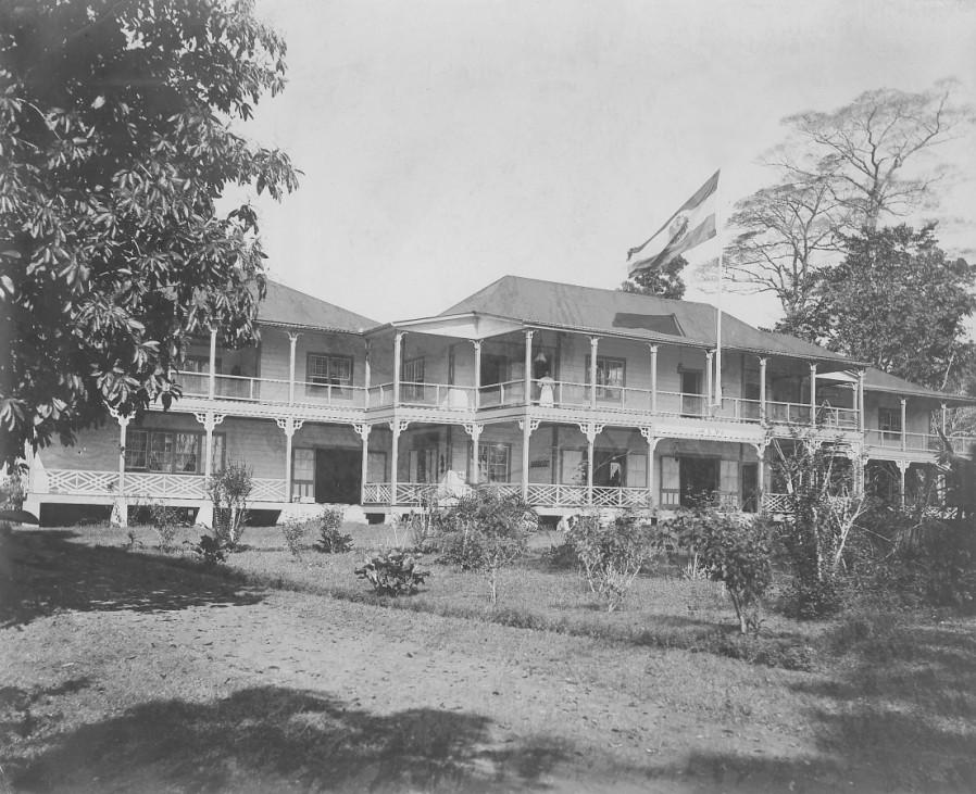Villa des deutschen Gouverneurs in Samoa, 1910
