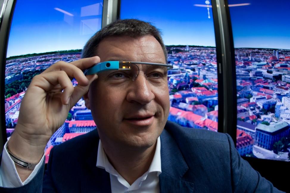 Finanzminister Markus Soeder (CSU) bei Google