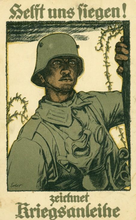 Feldpostkarte 'Helft  uns fliegen! zeichnet Kriegsanleihe', 1917   Field postcard 'Helft uns fliegen! zeichnet Kriegsanleihe', 1917
