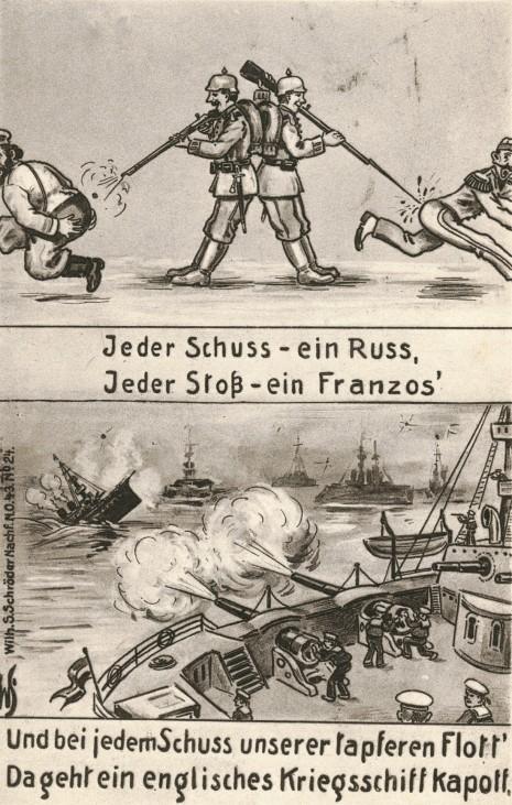 Deutsche Postkarte aus dem Ersten Weltkrieg, 1914