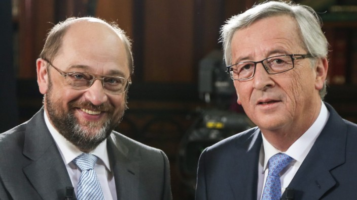 President of the European Parliament Martin Schulz and top candid
