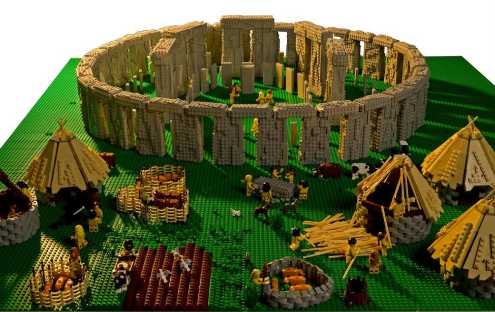 Stonehenge Lego Warren Elsmore Großbritannien