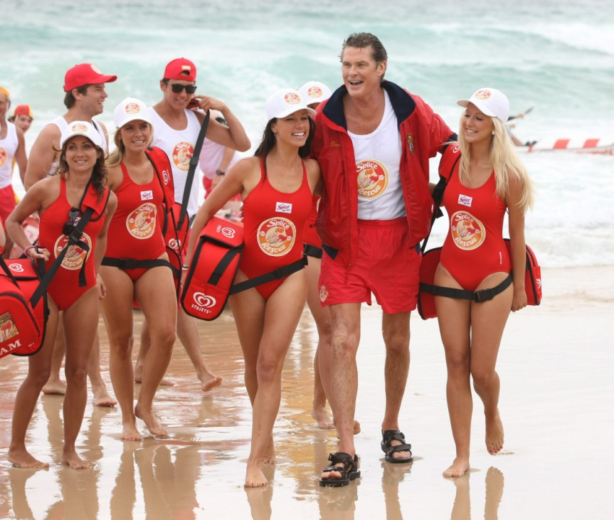David Hasselhoff am Bondi Beach in Sydney