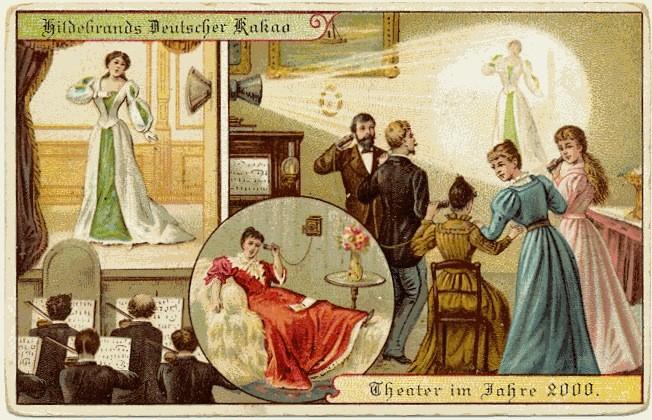 Hildebrand Schokolade Postkarten von 1900