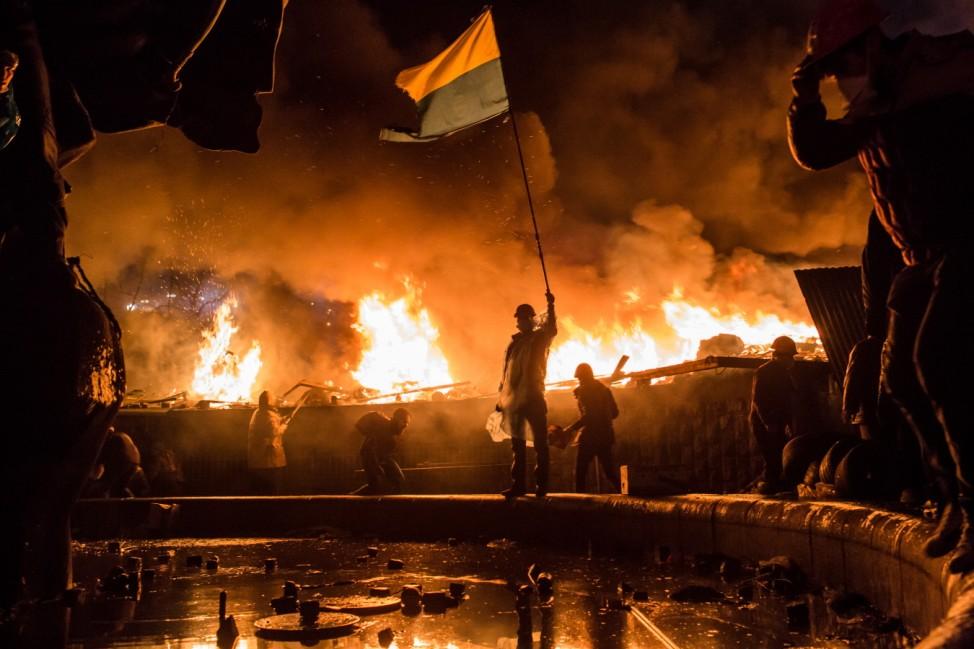 ***BESTPIX*** Violence Escalates As Kiev Protests Continue