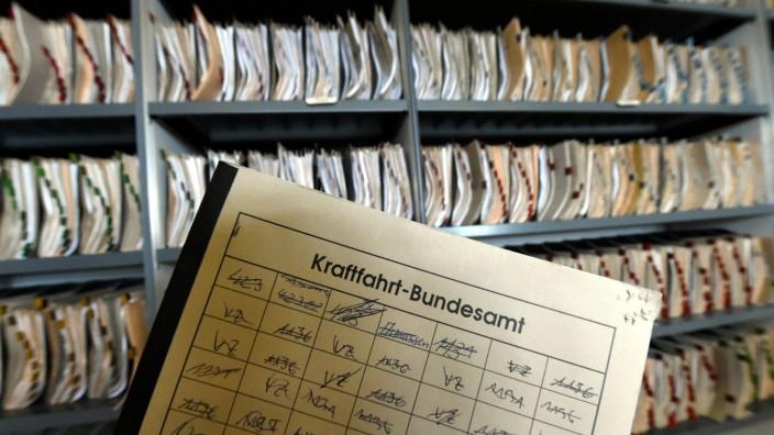 Bußgeldkatalog Kraftfahrtbundesamt in Flensburg