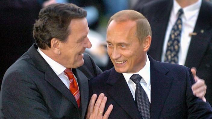 Gerhard Schrööder und Wladimir Putin