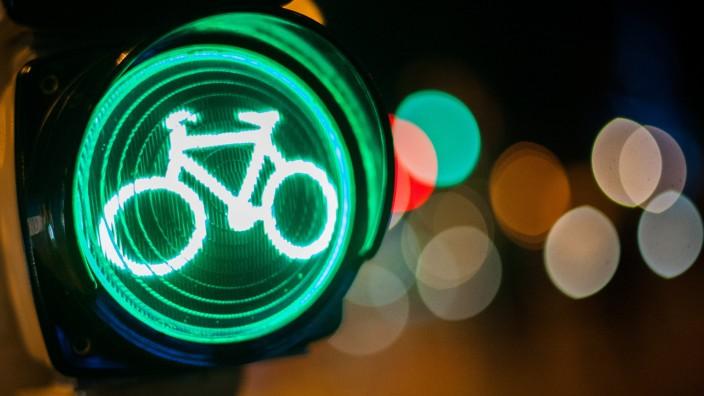 Grüne Ampel für Fahrräder