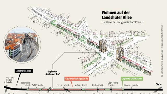 Grafik Landshuter Allee