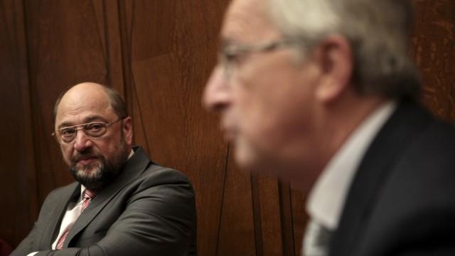 Martin Schulz und Jean-Claude Juncker: Martin Schulz (links): Fasziniert von Christoph Kolumbus und Vasco Da Gama