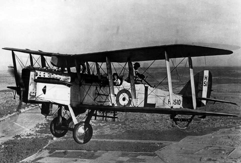 Englische Maschine Havilland 9A, 1917 | English machine Havilland 9A, 1917