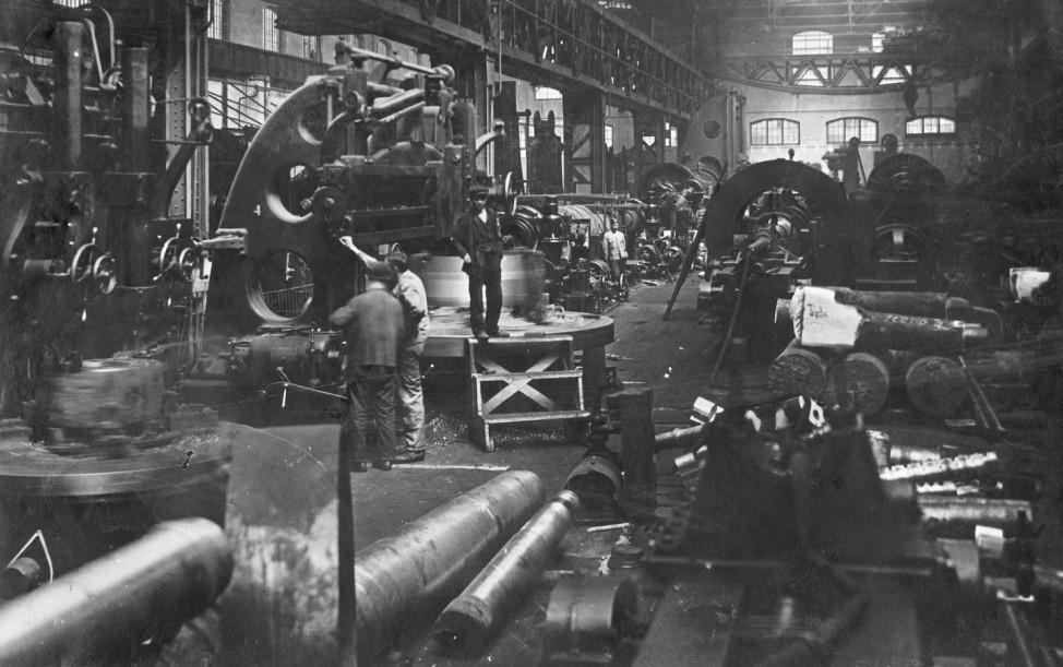 Eisen- und Metallgießerei in den Skodawerken