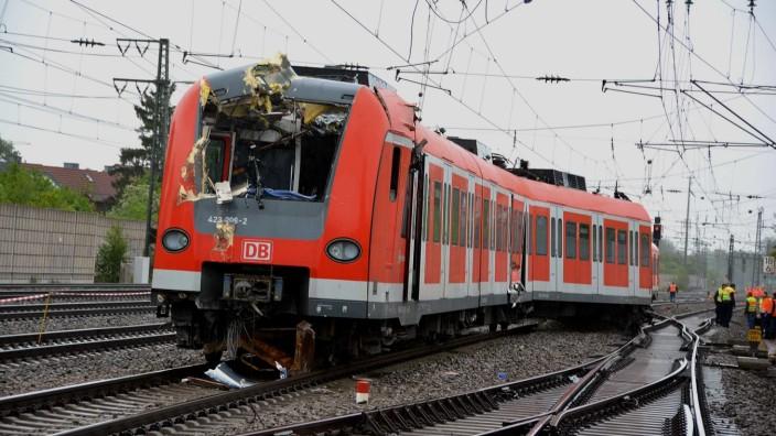 Bahn-Unfall in Olching.