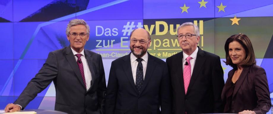 TV-Duell: Martin Schulz gegen Jean-Claude Juncker