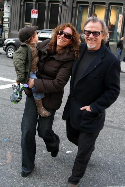 Harvey Keitel mit seiner Frau Daphna Kastner und seinem Sohn.