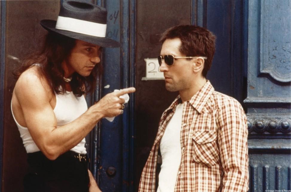 "Harvey Keitel (links) und Robert de Niro in Martin Scorseses ""Taxi Driver"" (1976)."