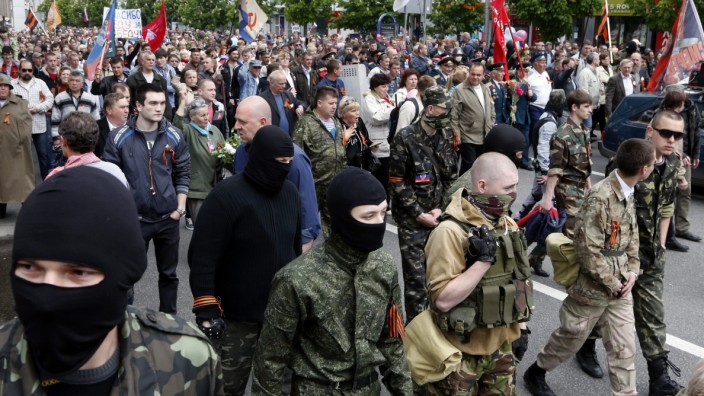Victory Day celebrations in Donetsk