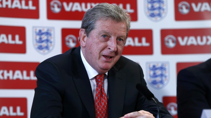 England soccer manager Roy Hodgson speaks as he announces his squad for the 2014 World Cup in Brazil, at a news conference in Luton