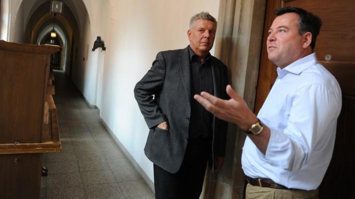 Dieter Reiter und Josef Schmid bei Koalitionsverhandlungen in München, 2014