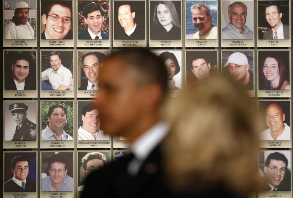 U.S. President Barack Obama tours the National September 11 Memorial Museum in New York