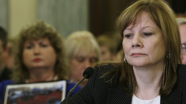 File photo of CEO  Barra testifying before the Senate Commerce and Transportation Consumer Protection Product Safety and Insurance subcommittee in Washington