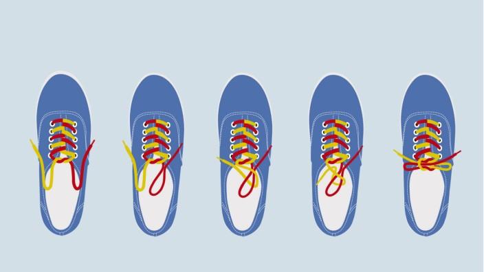 Fähigkeiten von Kindern Rettet das Schuhbandl Bayern
