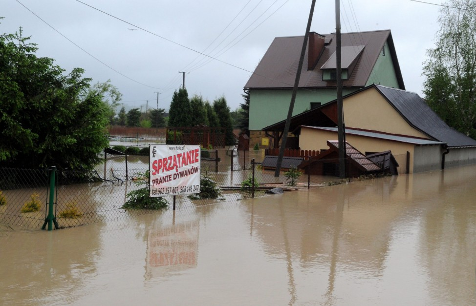 Floods in southern Poland