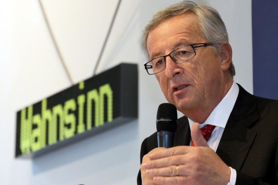 Europawahl - Wahlkampf Jean-Claude Juncker