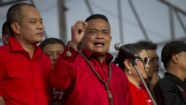 Verhängung des Kriegsrechts: Jatuporn Prompan, einer der Anführer der Rothemden